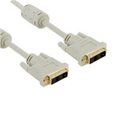 4World Monitoriaus kabelis DVI-D (24+1)- DVI-D (24+1) M/M 1.8m,DL feritas-retail