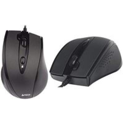 A4Tech Mouse N-770FX, V-Track , 1600DPI wired, black, Padless Mouse