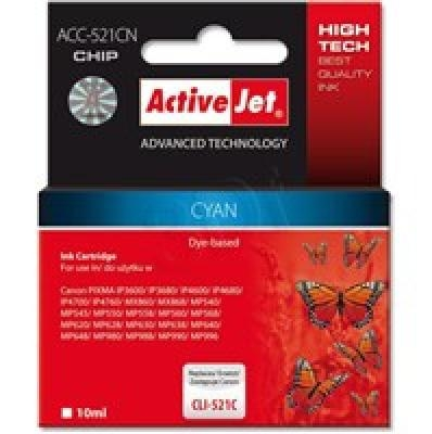 Action ActiveJet ACC-521CN (Canon CLI-521C)  Ink Cartridge, Cyan