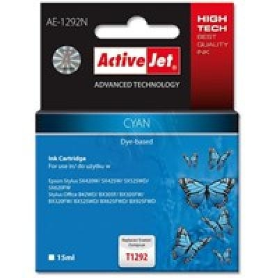 Action ActiveJet AE-1292N (Epson T1292)  Ink Cartridge, Cyan