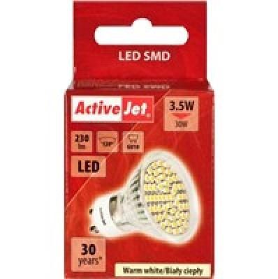 Action ActiveJet LED bulb GU10 x2pcs 320 lm, 4.5 W, 3200 K, Warm White