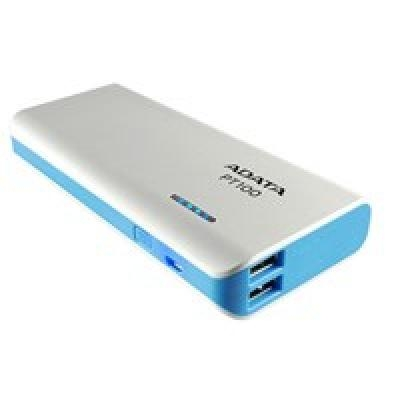 ADATA Power bank APT100-10000M-5V-CWHBL 10000 mAh, White/Blue | Akcija