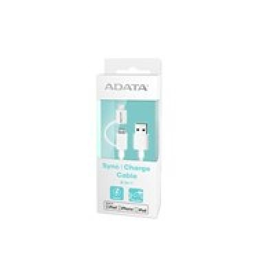 ADATA Sync Charge Cable 2-in-1, USB A, Micro-USB B/Lightning, 1 m, White