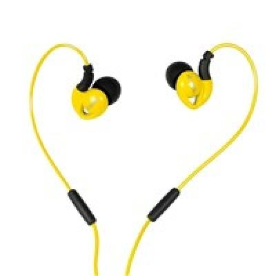 Ausinės I-BOX S1 Sport Audio Mobile YELLOW/BLACK