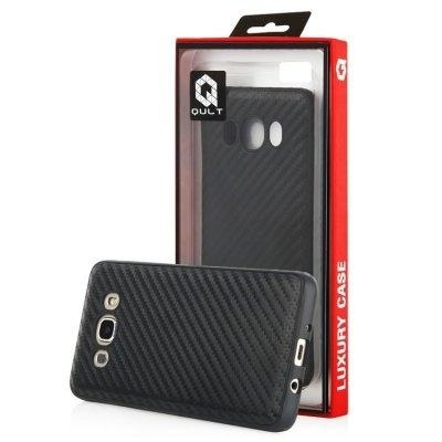 Dėklas telefonui Qult Luxury Carbon Silicone Case for Huawei P10 Black