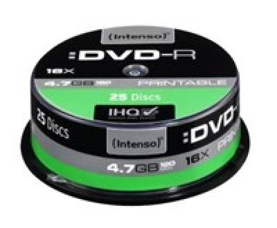 DVD-R Intenso [ cake box 25|4.7GB|16x| do nadruku | Extra Fine Matt | Fullface]