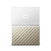 External HDD|WESTERN DIGITAL|My Passport Ultra|2TB|USB 3.0|Colour White / Gold|WDBTLG0020BGD-WESN