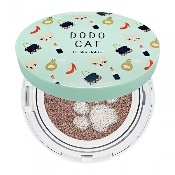 Holika Holika Face 2 Change DoDo Cat Glow Cushion BB 23 (DoDo's Day Out) SPF50+ / PA+++ – BB pudros pagalvėlė