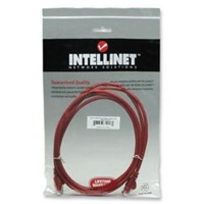 Intellinet Network Cable RJ45, Cat6 UTP, 3m Red, 100% copper