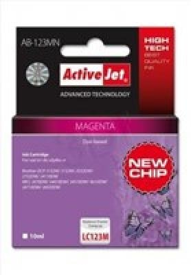 Rašalas ActiveJet AB-123MN | Magenta | 10 ml | Brother LC123M LC121M