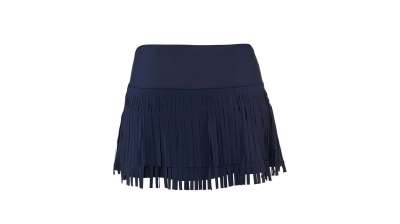 Sijonas Lucky in Love Fringe with Benefits Skirt / Navy