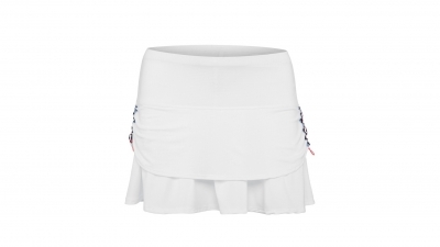 Sijonas Lucky in Love Vantage Ruched Pleat Tier Skirt