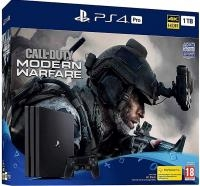 Sony Playstation 4 Pro 1TB black + COD Modern Warfare