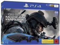 Sony Playstation 4 Slim 1TB+COD Modern warfare+2 pulteliai (Black friday)