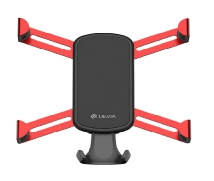 Telefono laikiklis Devia spider gravity Car Air Vent red