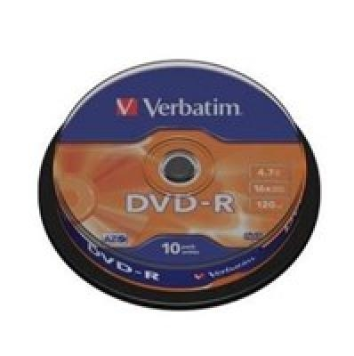 Verbatim DVD-R AZO Matt Silver 4.7 GB, 16 x, 10 Pack Spindle